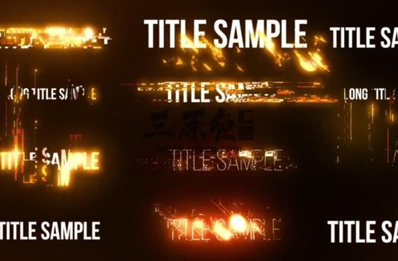 AE模板 文字标题光效特效动画模板 Energetic Titles Ae 模板-第1张