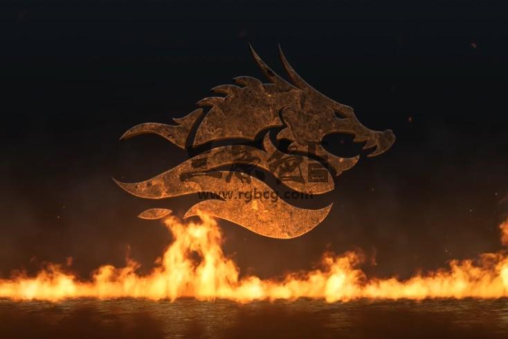 AE模板 史诗真实火焰LOGO展示片头 Epic Fire Logo Ae 模板-第1张