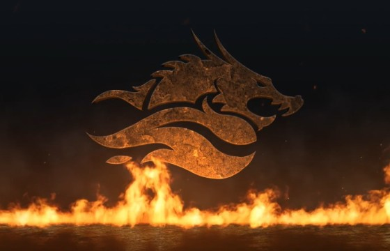 AE模板 史诗真实火焰LOGO展示片头 Epic Fire Logo