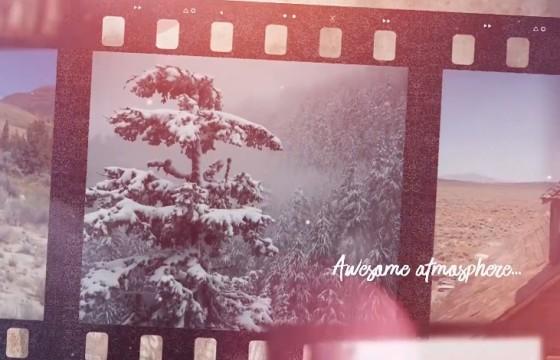 Pr模板 老旧电影胶片风格幻灯片展示 Film Strip Memories