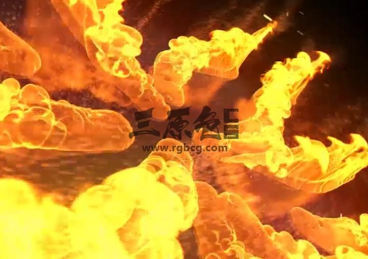 AE模板 火龙燃烧汇聚LOGO显示片头 Fire Logo Opener Ae 模板-第1张