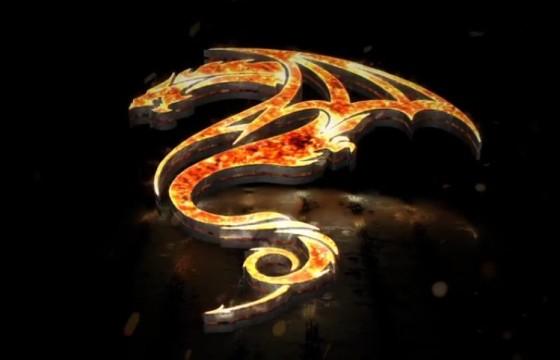 AE模板 E3D火焰描边特效LOGO展示片头 Flames 3D Logo