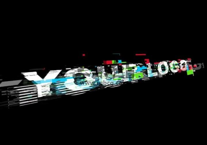 AE模板 故障损坏混乱效果LOGO动画展示 Glitch Logo Ae 模板-第1张