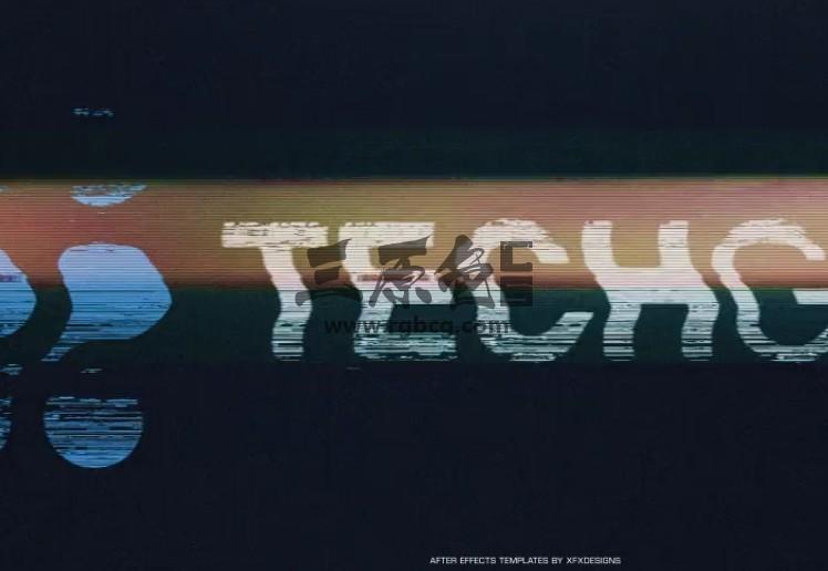AE模板 画面干扰失真混乱LOGO动画效果 Glitch Logo Reveal Ae 模板-第1张