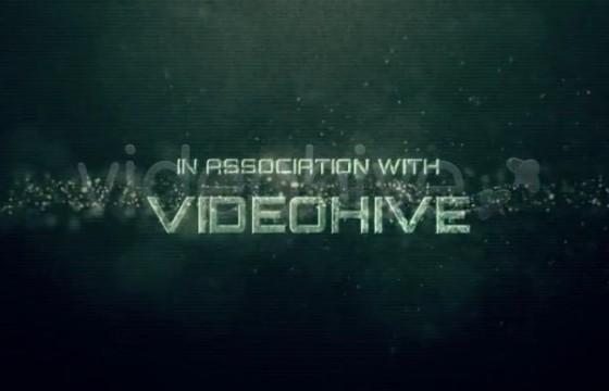 AE模板 游戏电影预告片 文字标题信号干扰效果片头 Glitch Trailer