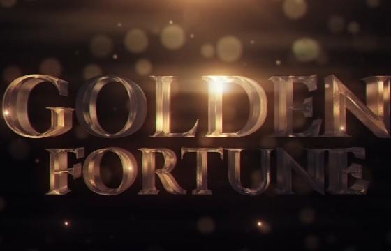 Pr基本图形模板 Mogrt预设 三维文字片头 Golden Fortune