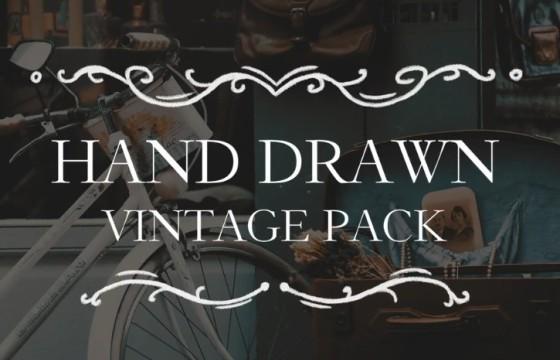 Pr模板 手绘复古卡通线条图标动画标题 Hand Drawn Vintage Pack