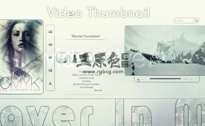 AE模板 登录功能视频演示文稿 Login A Minimal Presentation Ae 模板-第1张