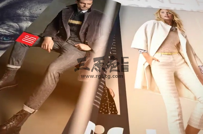 AE模板 书本杂志报纸翻页动画展示 Magazine Promo Ae 模板-第1张