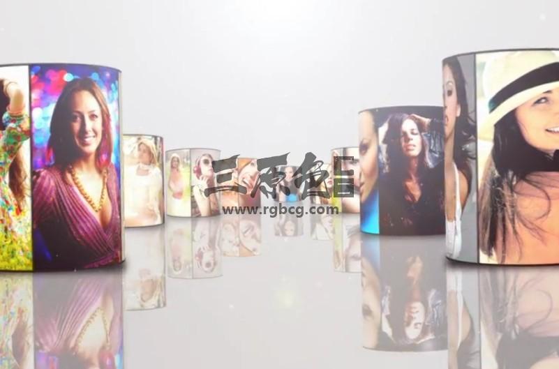 AE模板 六边形圆柱照片墙滚动LOGO展示 Multi Video Logo Ae 模板-第1张