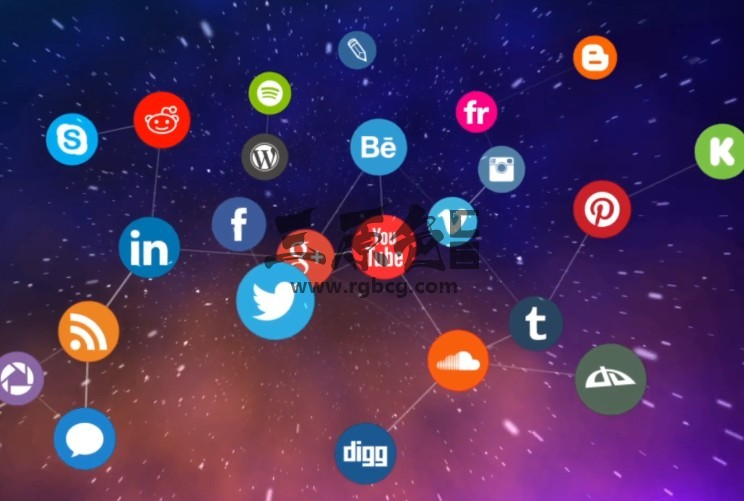 AE模板 图标连线动画网络LOGO标志显示 Network Logo Reveal Ae 模板-第1张