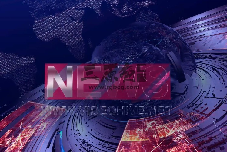 AE模板-三维地球科技感国际新闻栏目片头包装 News Intro Ae 模板-第1张