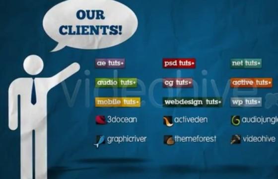 AE模板 简易图形动画演示投资组合 Portfolio and Staff