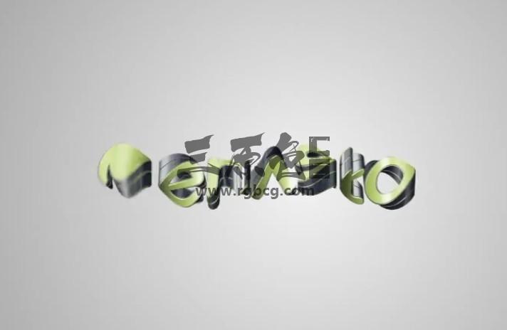 AE模板 三维LOGO文字扭曲变形特效动画展示 Quick Clean 3D Logo Pack Ae 模板-第1张