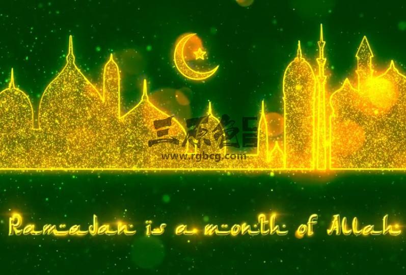 AE模板:伊斯兰教斋月动画 VideoHive Ramadan Opener Ae 模板-第1张