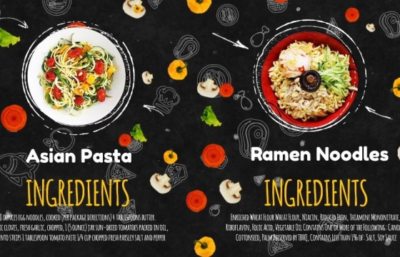 AE模板 酒店餐厅食谱菜单动画展示介绍 Recipes Menu Slideshow