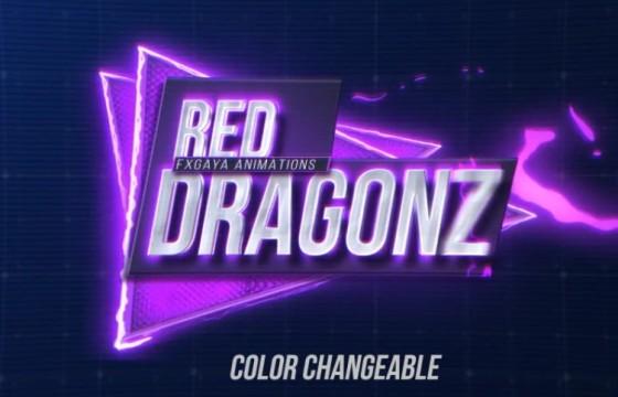 AE模板 多颜色LOGO标题字幕 闪电描边动画 Red Dragonz