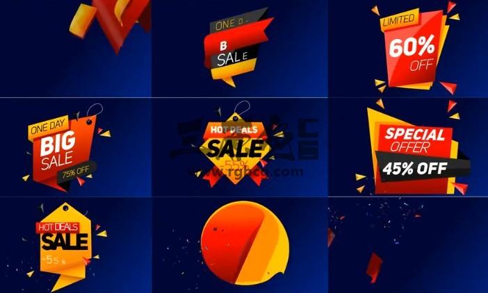 AE模板-动态图形商品促销打折销售标签动画 Sale Label Ae 模板-第1张