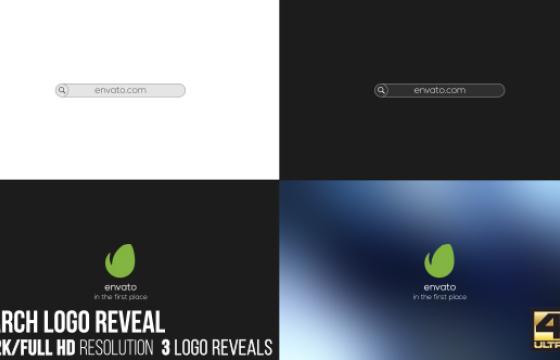 AE模板 搜索标志LOGO显示片头 Search Logo Reveal