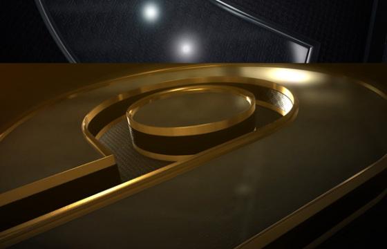 AE模板 三维银色金色LOGO标志栏目包装片头 Gold Logo Reveal