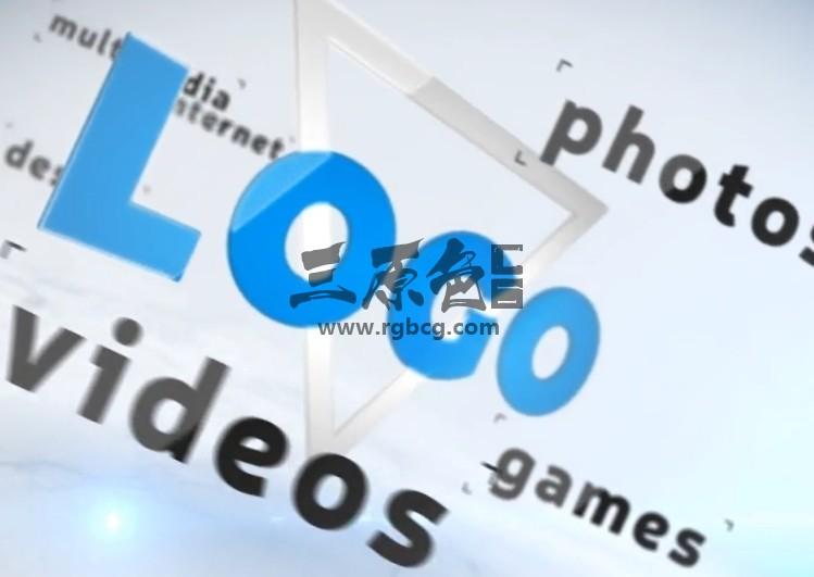 AE模板 三维空间LOGO关键词围绕动画片头 Simple Logo Ident Ae 模板-第1张