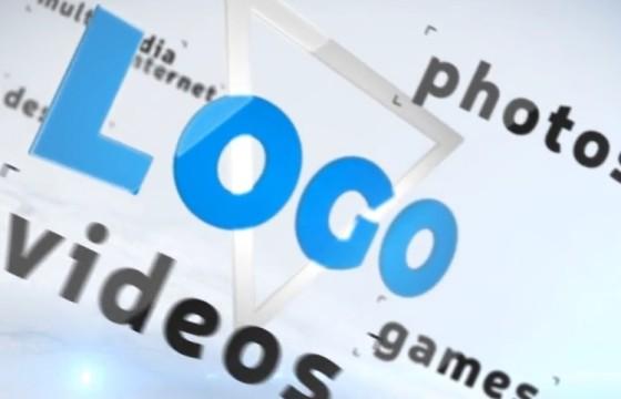 AE模板 三维空间LOGO关键词围绕动画片头 Simple Logo Ident