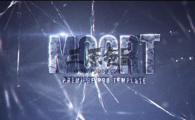 Pr基本图形 Mogrt文字标题LOGO预设模板 Smashed Title Designs Pr 模板-第1张
