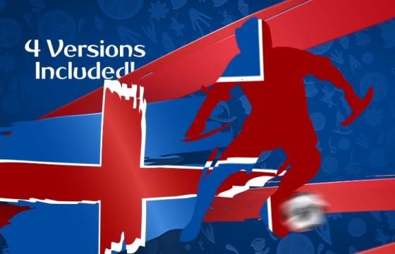 AE模板-足球比赛开幕剪影图形动画片头 Soccer Intro Opener