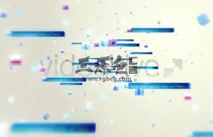 AE模板 社交媒体图标汇聚LOGO片头 Social Media Logo Ae 模板-第1张