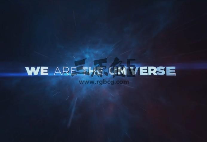 AE模板 三维空间 文字标题预告片 Space Motivational Titles Ae 模板-第1张