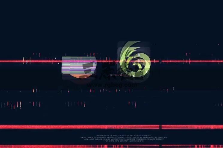 AE模板 画面损坏失真混乱LOGO效果片头 The Ultimate Glitch Logo Ae 模板-第1张