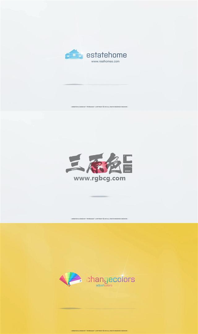 AE模板 企业LOGO标志显示展开动画片头 Unfold Corporate Logo Ae 模板-第1张