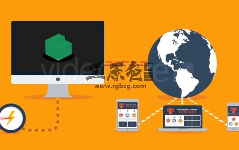 AE模板 网站网页SEO优化广告宣传说明 Web Hosting Explainer Ae 模板-第1张