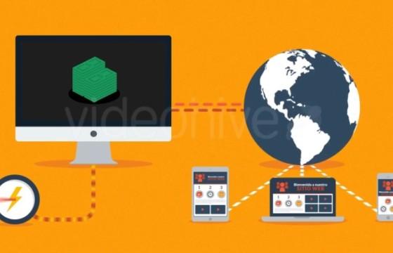 AE模板 网站网页SEO优化广告宣传说明 Web Hosting Explainer
