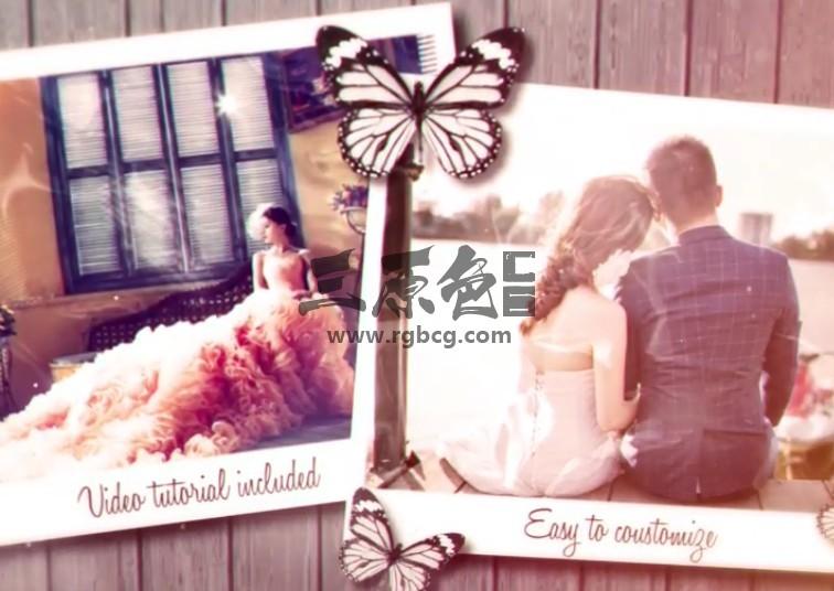 AE模板 唯美浪漫的婚礼婚纱照相册回忆 Wedding Day Ae 模板-第1张