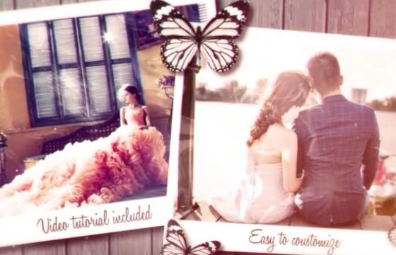 AE模板 唯美浪漫的婚礼婚纱照相册回忆 Wedding Day