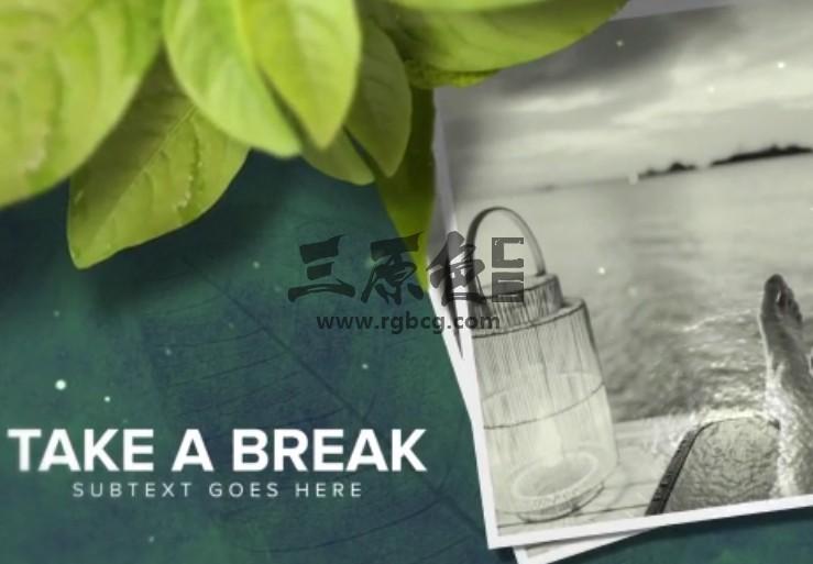 AE模板-绿叶主题照片相册幻灯片展示 Wellness Health Promo Ae 模板-第1张