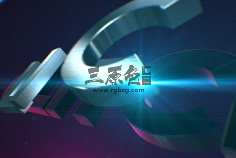 AE模板 E3D三维动画LOGO展示模板 Glitch Logo Reveal Ae 模板-第1张