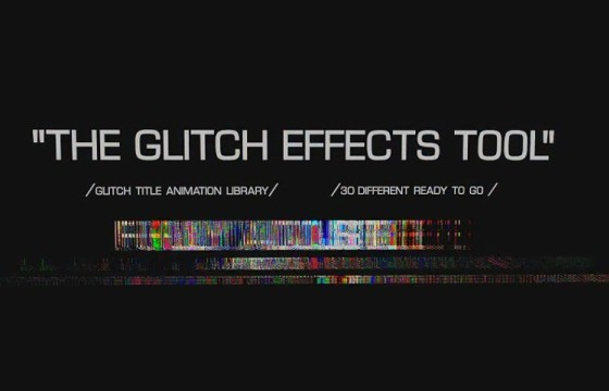 AE模板 损坏故障效果文字特效动画 Glitch Text Effects Toolkit