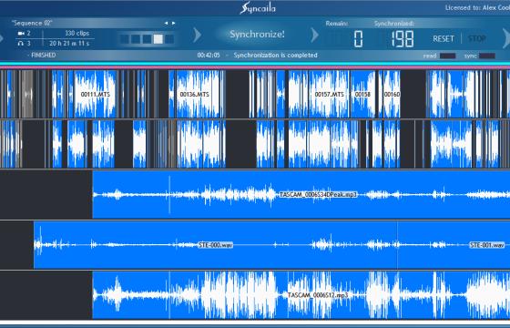 多机位视频音频自动同步对齐工具 Syncaila v1.3.2 中文一键安装版