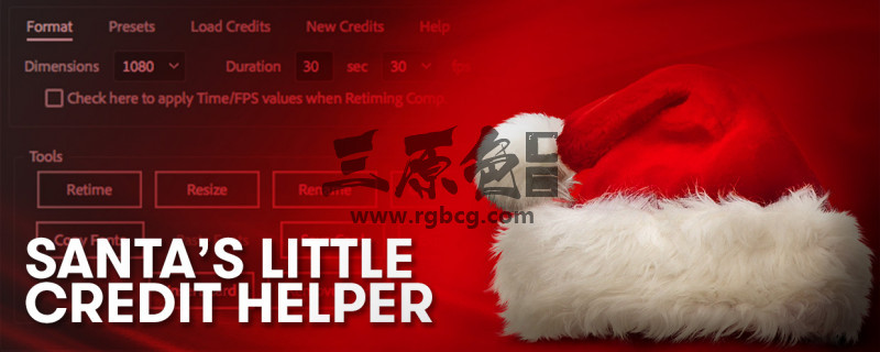 AE脚本 卡片表格样式创建编辑脚本 Santas Little Credit Helper v1.0 脚本/预设-第1张