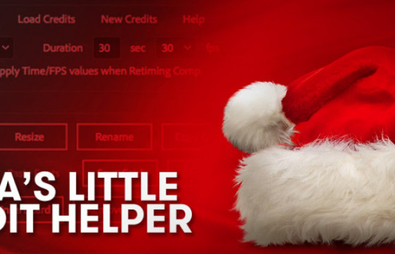 AE脚本 卡片表格样式创建编辑脚本 Santas Little Credit Helper v1.0