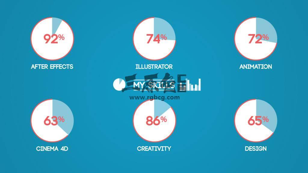 AE模板 MG卡通图形数据统计报表动画 Freelancer Profile Ae 模板-第3张