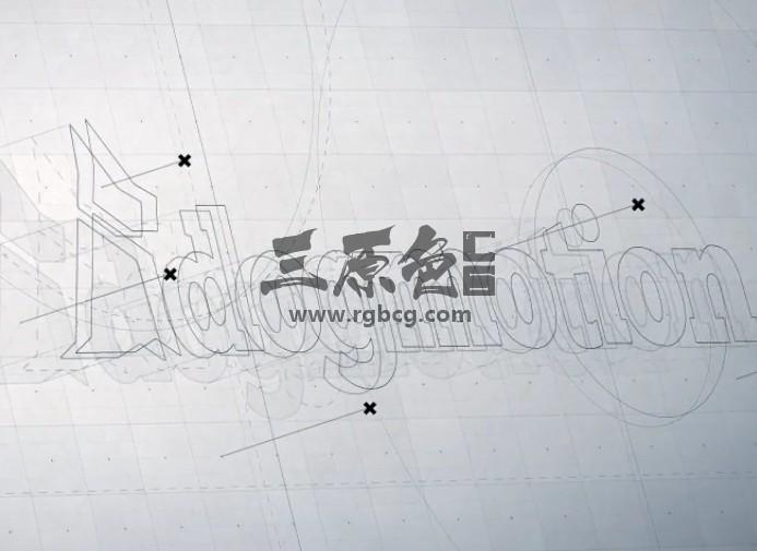 AE模板-手绘素描线条LOGO动画展示片头 3D Logo Reveal Ae 模板-第1张