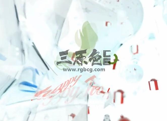 AE模板 三维圣诞节五角星礼物LOGO片头 3D Opener Ae 模板-第1张