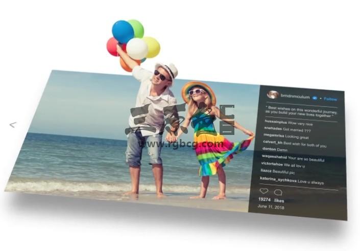AE模板 三维立体照片弹出动画展示 3D Photo Pop Out Ae 模板-第1张