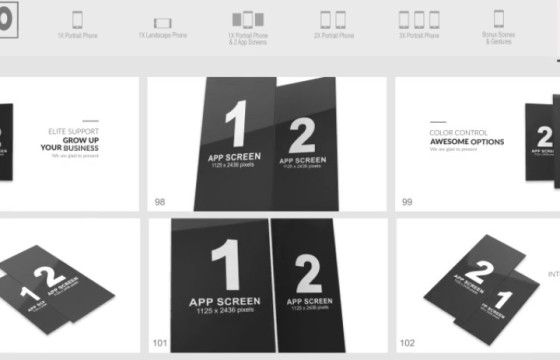 AE模板 E3D三维手机模型APP动画 App Pro for Element 3D