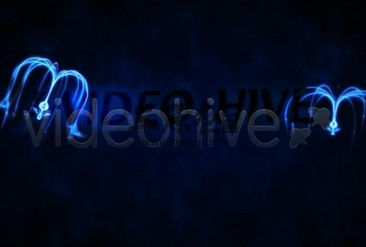 AE模板 蓝色发光水母文字LOGO片头 Avatar Logo Reveal Ae 模板-第1张