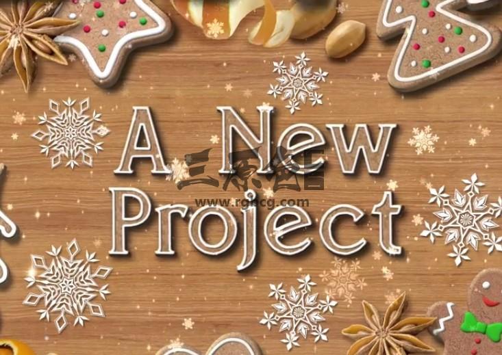 AE模板 圣诞饼干促销广告展示 Christmas Cookies Promo Ae 模板-第1张