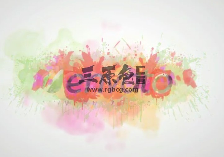 AE模板 多彩的水墨飞溅LOGO徽标 Colorful Splash Logo Ae 模板-第1张